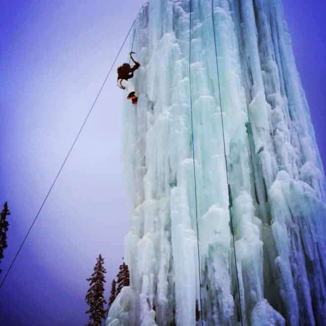 Face your fear and climb the incredible 60 foot tall ice tower at Big White. Ring the bell to celebrate that you'd reached the top!