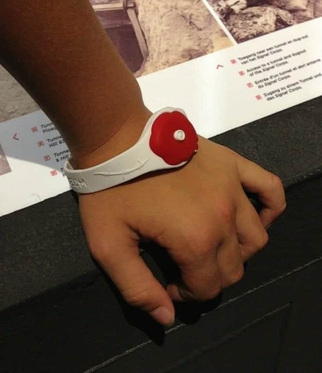 Every visitor receives a poppy wristband to activate the Museum's multimedia displays