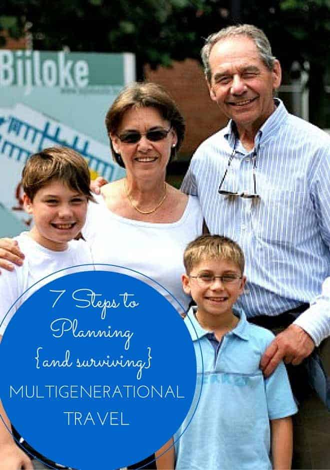 planning multigenerational travel