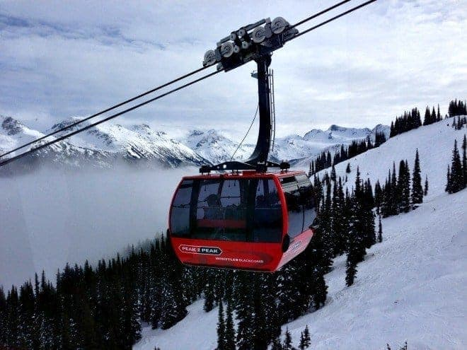 Sun or snow for spring break? Our best spring break travel tips for family fun include riding the Peak to Peak from Whistler to Blackcomb Mountains