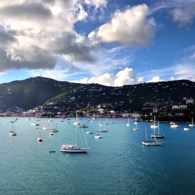 The calm waters of St. Thomas, USVI on our Carnival Cruise