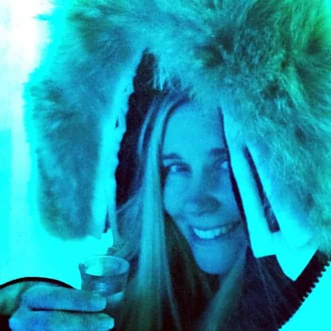 Sipping ice cold vodka in style at the Bearfoot Bistro Vodka Ice Room