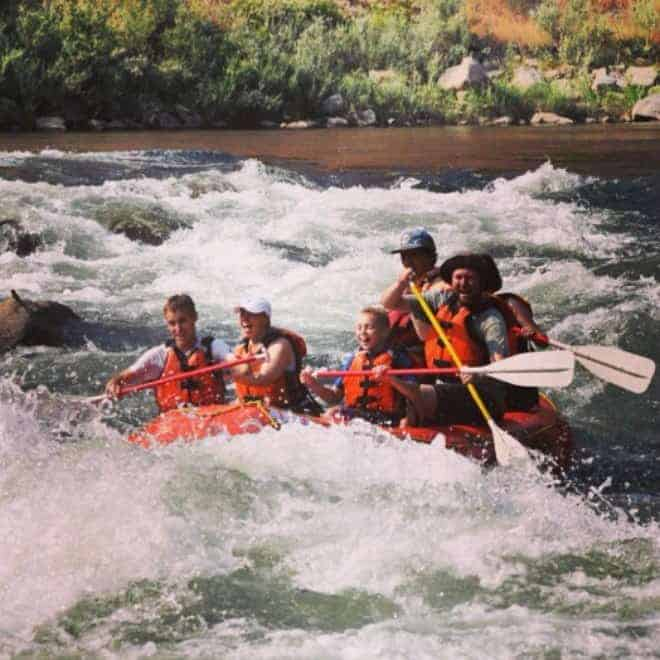 A white water rush on the Payette River, Boise, Idaho