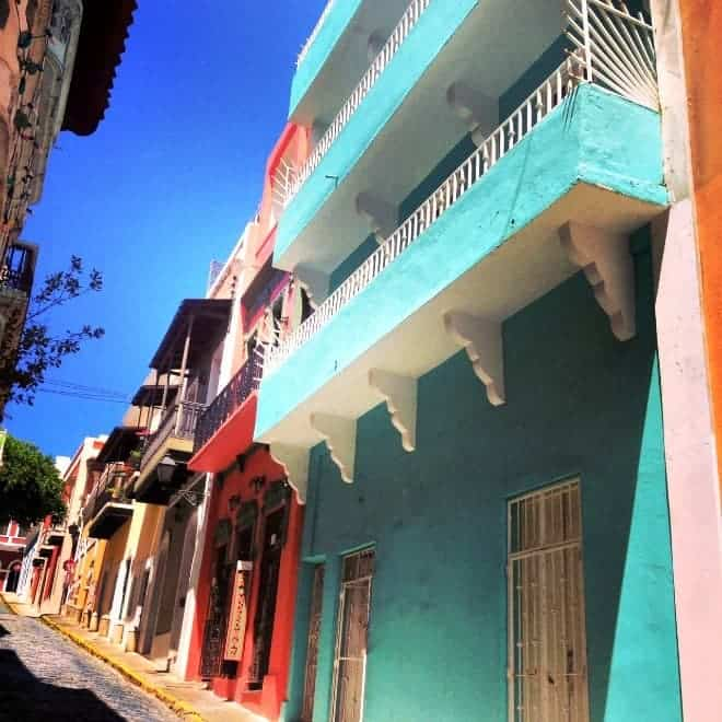 The colorful old town of Puerto Rico