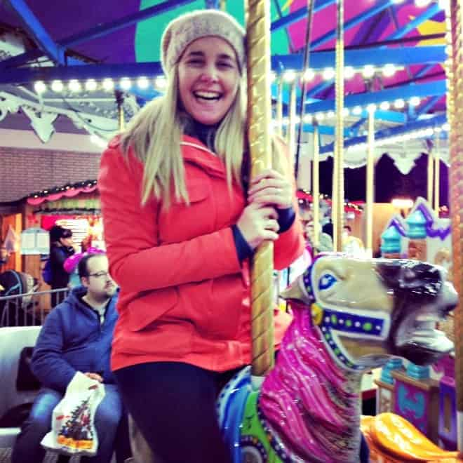 Spinning round the Vancouver Christmas Market Carousel