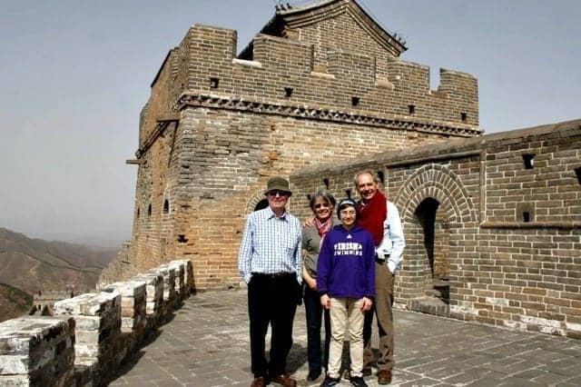 The Great Wall of China with grandparents & a personal guide? Priceless.
