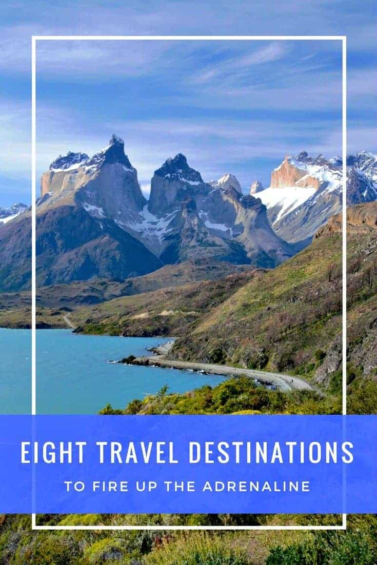 Volcanoes, whales, mile-wide glaciers, sky-diving, deserts that bloom in the fall. See our cool selection of high energy travel destinations!