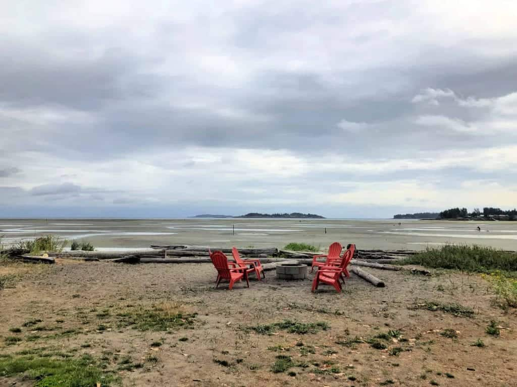 red chairs on rathtrevor beach