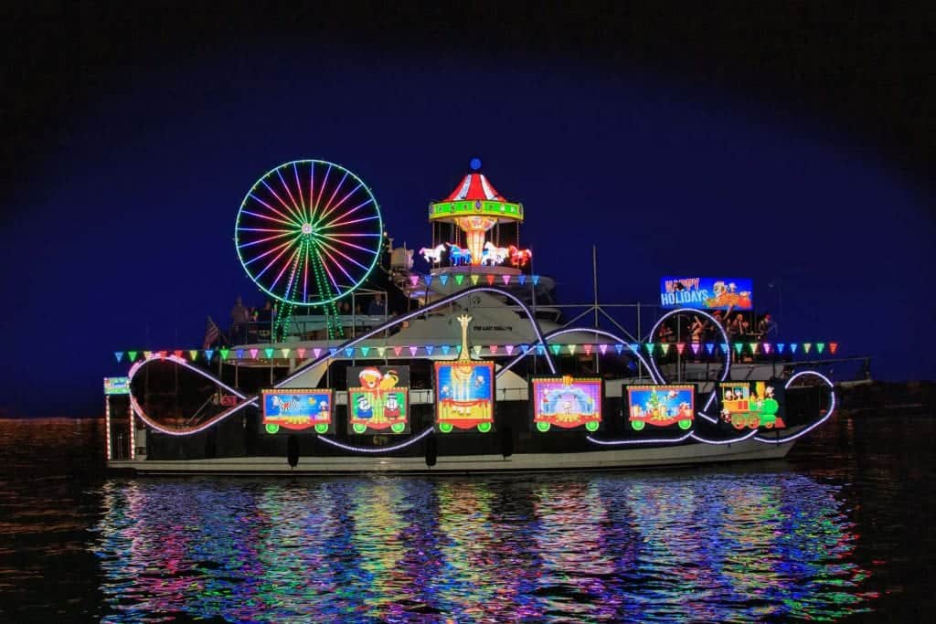 newport beach boat parade with lights