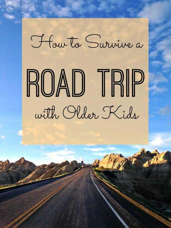 Road trips are wonderful ways to see the world and make family travel memories. Here's how to survive a road trip with your older kids. #roadtrip #travelwithteens #familytravel #roadtripping #traveltips