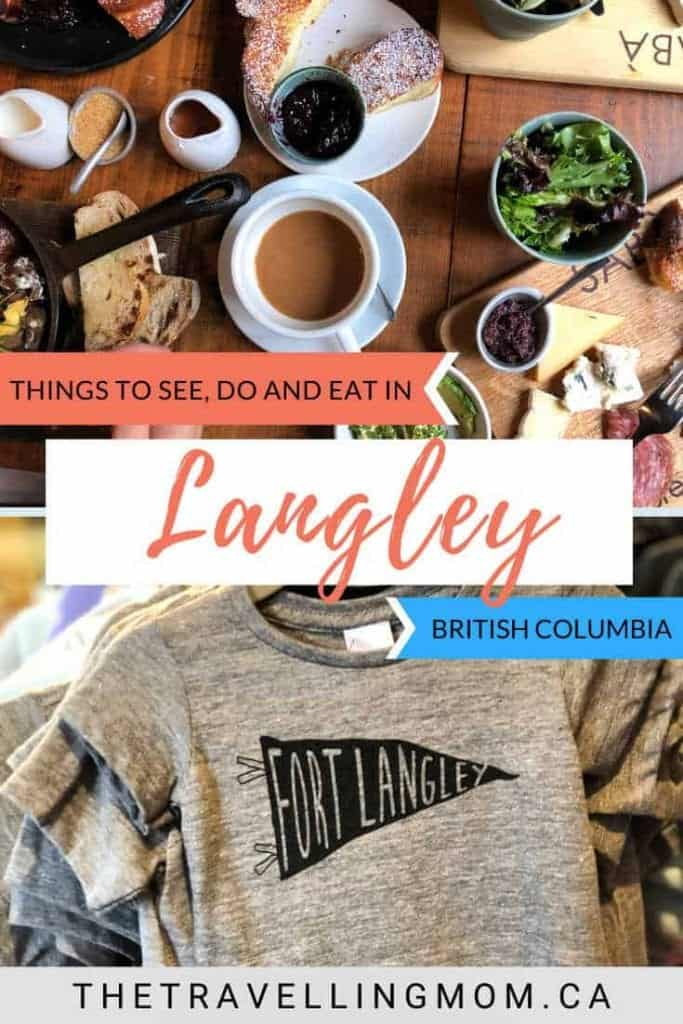 food and clothes from day trip to fort langley