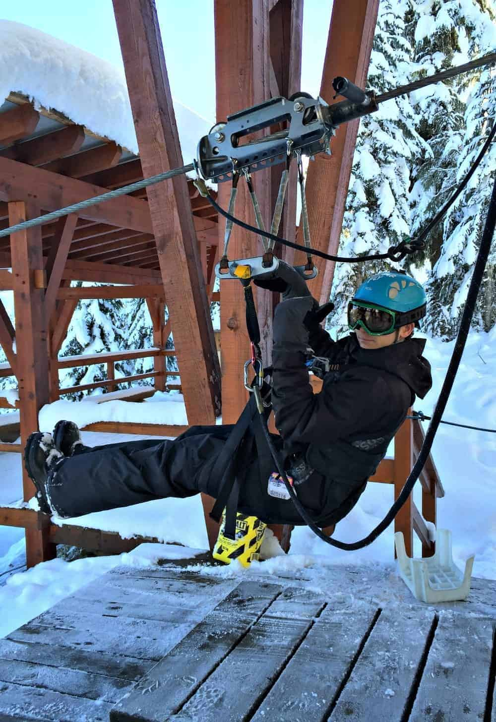 Getting a new adventurous perspective on life by zip lining in the mountains of Whistler for the Ford Bucket List Challenge.