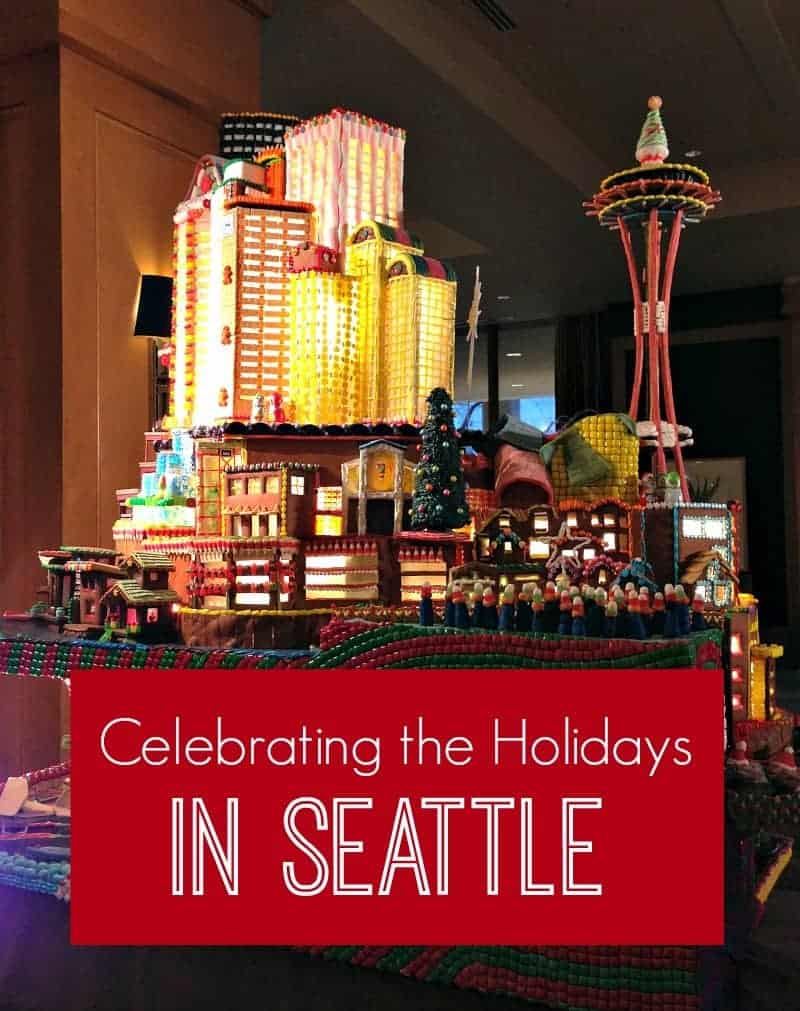 model of seattle at christmas