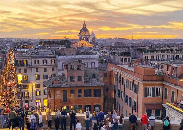 rome at sunset on monograms tour