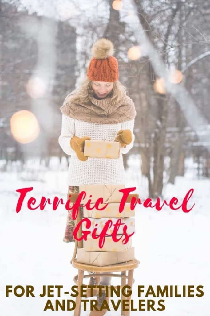 lady dressed for winter hosting travel gifts
