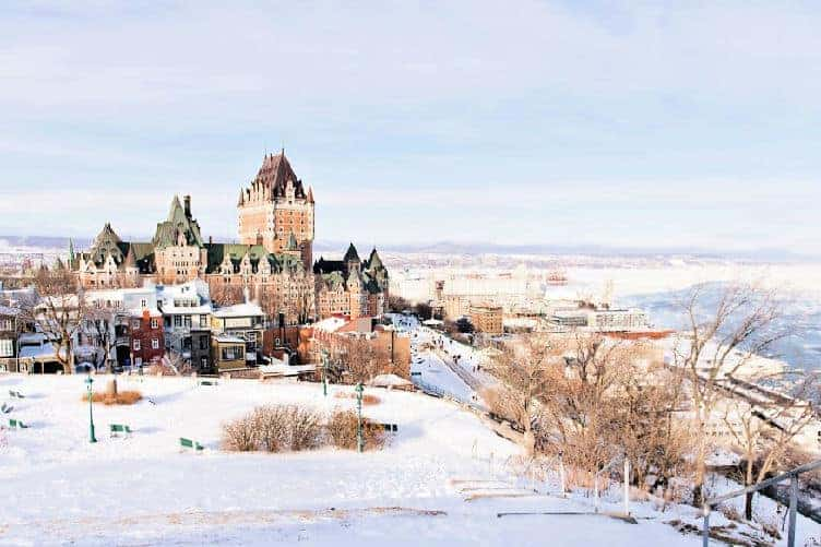 chateau frontenac Quebec city in winter
