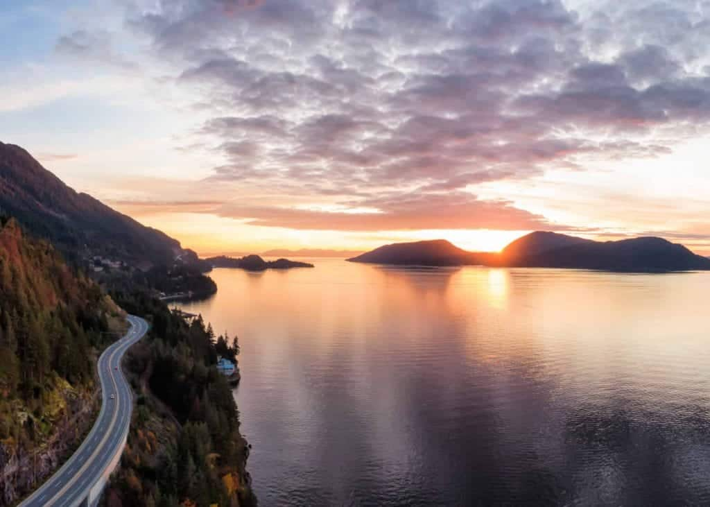 sea to sky highway in bc