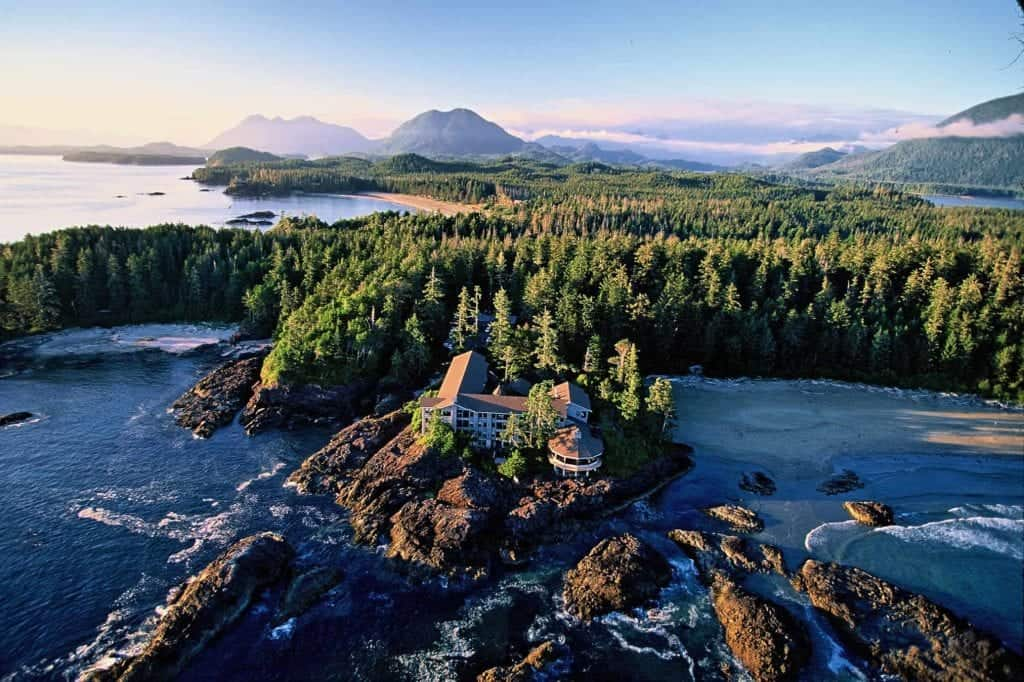 wick in tofino aerial shot