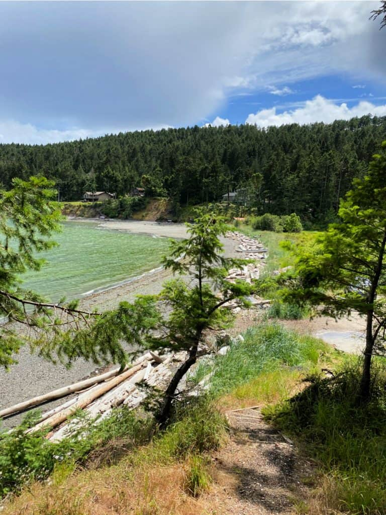 view of beach on pender island