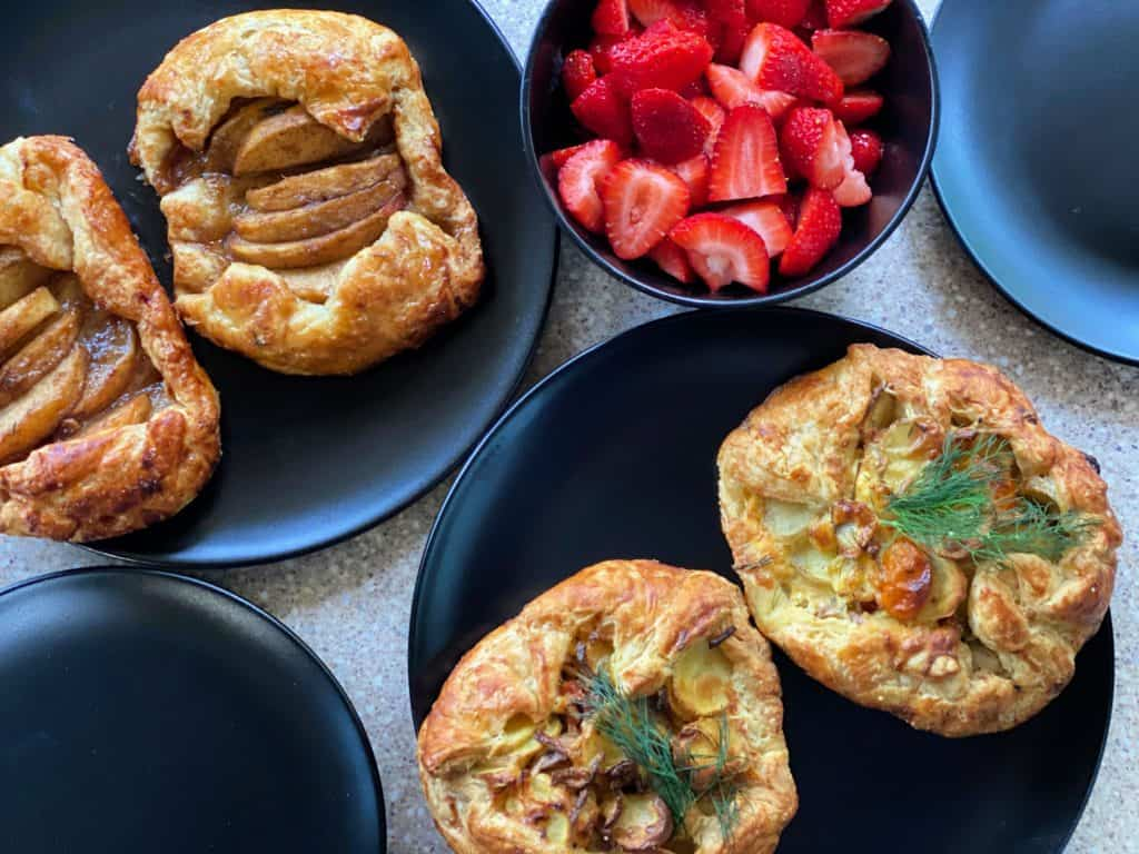breakfast pastries from woods on pender